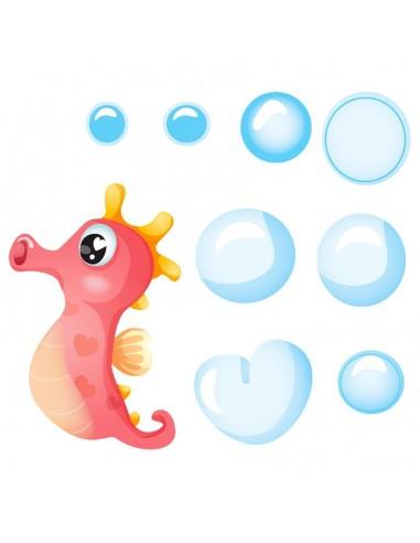 Stickers de la Mer,Stickers Hippocampe: Silo et ses bulles