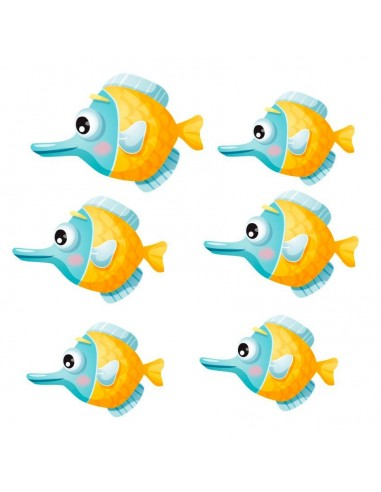 Stickers de la Mer,Stickers mer: Banc de poissons globuleux