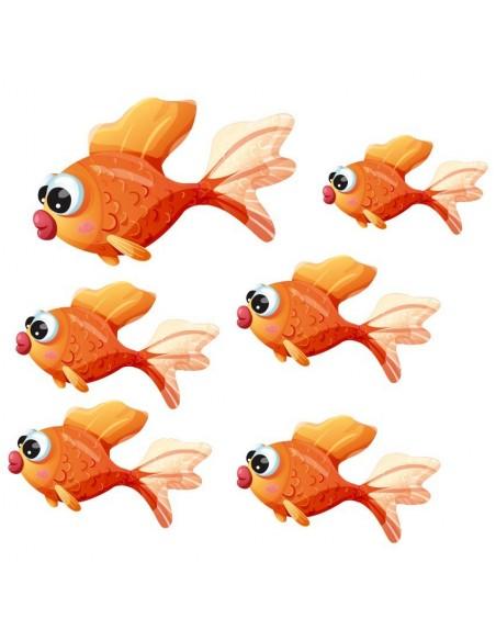 Stickers de la Mer,Stickers mer: Banc de poissons rouges