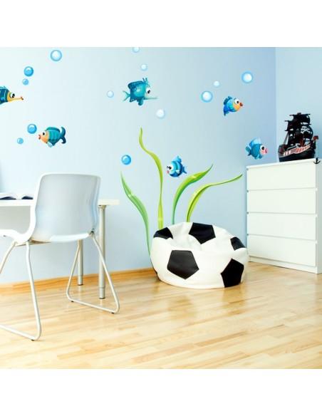 Stickers de la Mer,Stickers mer: frise bulles