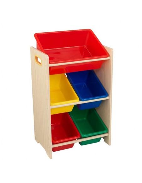 Bibliothèques & Casiers,Meuble avec 5 bacs de rangement colorés