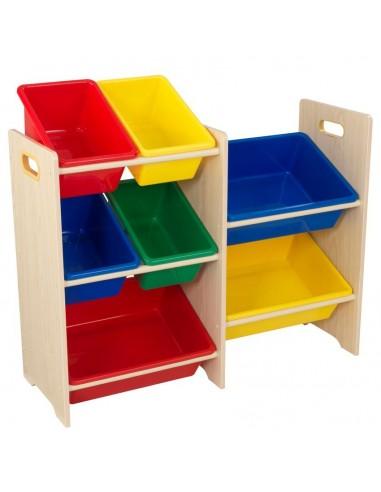 Bibliothèques & Casiers,Meuble avec 7 bacs de rangement colorés