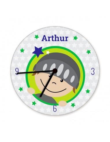 Horloges,Horloge enfant prénom: tête chevalier
