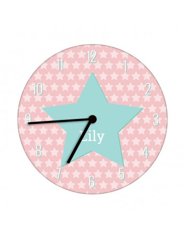Horloges,Horloge enfant prénom: étoiles