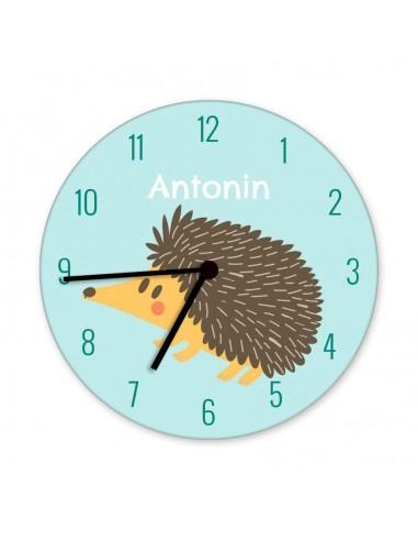 Horloges,Horloge enfant prénom: hérisson