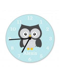 Horloges,Horloge enfant prénom: hibou
