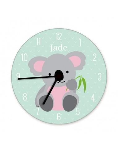 Horloges,Horloge enfant prénom: koala
