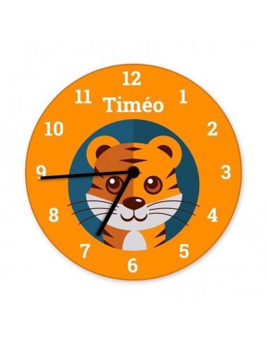 Horloges,Horloge enfant prénom: tigre