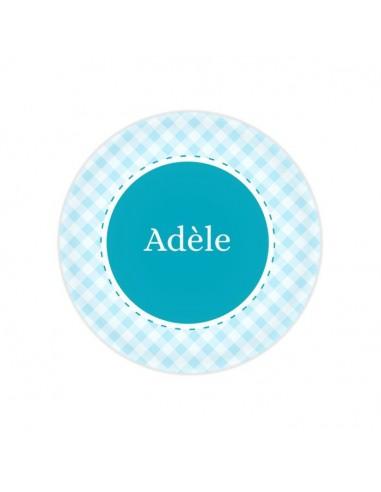 Vaisselle personnalisée,Assiette enfant prénom: Croisillons