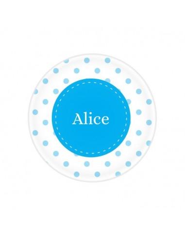Vaisselle personnalisée,Assiette enfant prénom: Pois