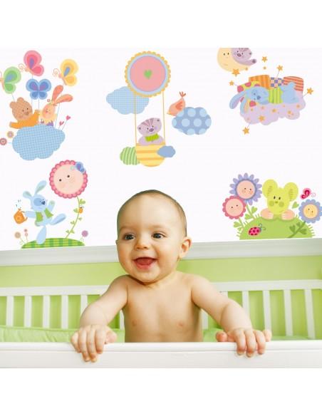 Stickers Nounours Doudous,Sticker mural: Planche Complète Doudou