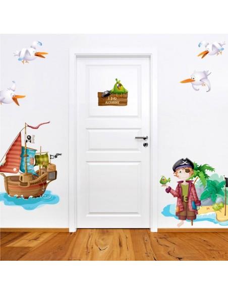 Kit Deco Promo,Kit Stickers pirate: Barbe Rousse