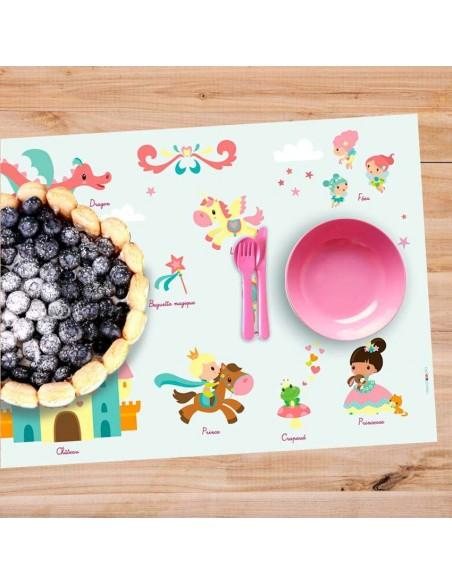 Set de table,Set De Table Enfant: Féérie Princesse
