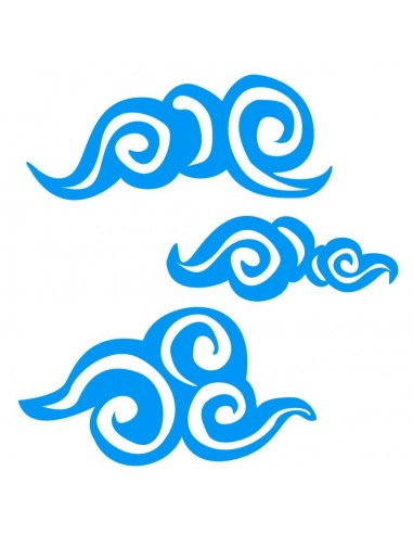Stickers Monde,Stickers Hawaï: vagues