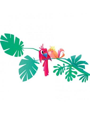 Stickers Monde,Sticker Hawaï: Branche perroquets