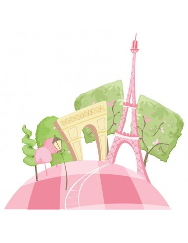 Stickers Monde,Sticker Europe: Paris en Rose