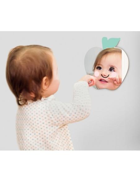 Miroir enfant,Miroir enfant: Pomme Sourire
