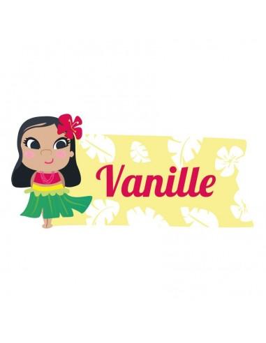 Stickers Prénom,Sticker Prénom: Hawaïenne rouge