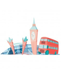 Stickers Monde,Sticker enfant: Londres