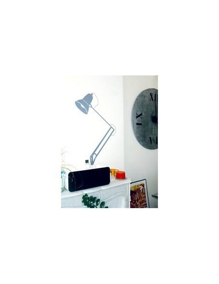 Ancien,Sticker déco: Lampe architecte rouge
