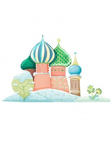 Stickers Russie,Sticker enfant: Palais Russe en hiver