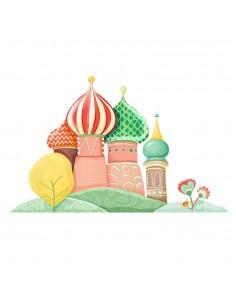 Stickers Russie,Sticker enfant: Palais Russe en été