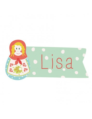 Stickers Prénom,Sticker Prénom: Poupée Russe Blonde