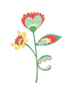 Stickers Russie,Sticker enfant: Fleur en coeur