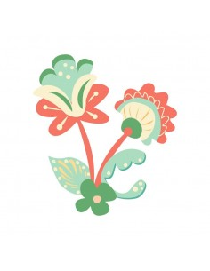Stickers Russie,Sticker enfant: Fleur Russe rouge