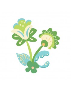 Stickers Russie,Sticker enfant: Fleur Russe verte