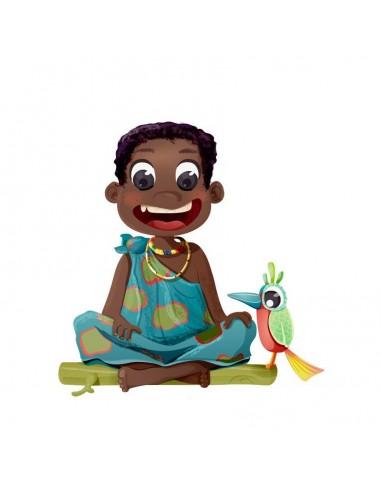 Stickers Monde,Sticker enfant: Garçon Africain