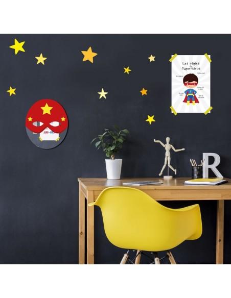 Poster enfant,Kit de 4 affiches: super-héros