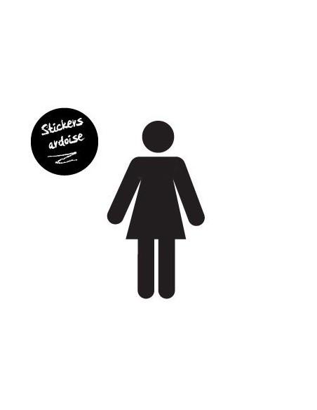 Sticker Ardoise,Sticker ardoise: Femme