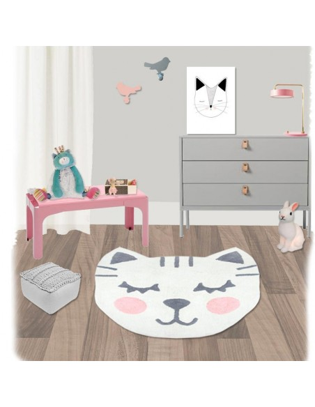 Tapis ronds,Tapis Enfant: Chat Betsy