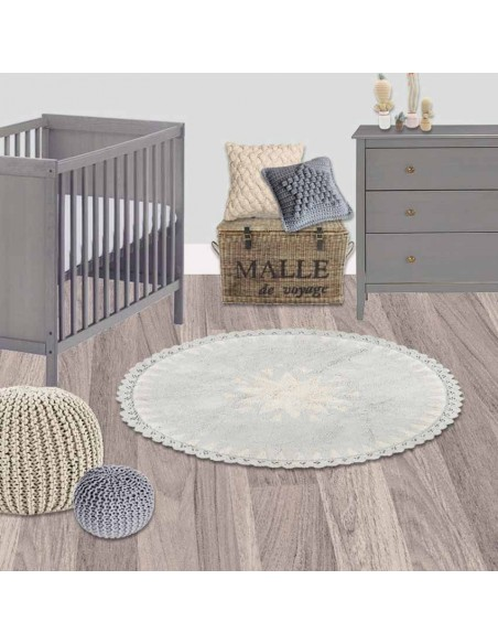 Tapis ronds,Tapis Enfant: Etoile Warren Naturel