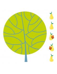 Stickers Forêt,Sticker forêt: Poirier et poires