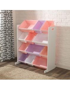 Bibliothèques & Casiers,Meuble avec Bacs de rangement pastels