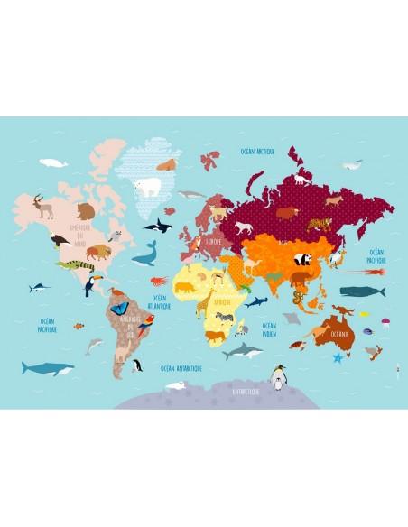 Poster enfant,Poster Géant plastifié: Carte du monde