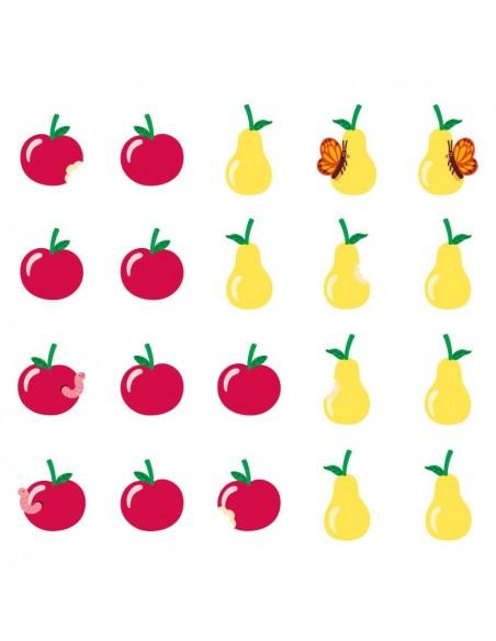 Stickers Forêt,Sticker forêt: frise fruits
