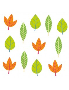 Stickers Forêt,Sticker forêt: frise feuilles