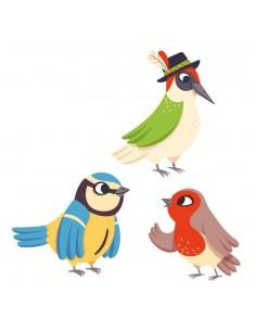Stickers Forêt,Sticker forêt: Oiseaux