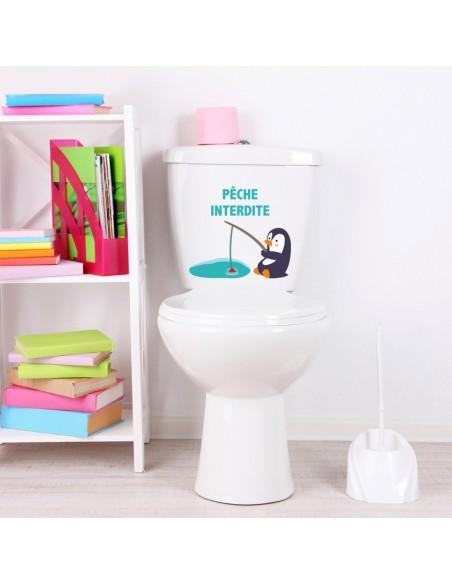 Stickers WC,Sticker WC: Pêche Interdite