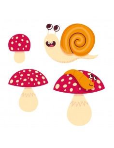 Stickers Forêt,Sticker forêt: Escargot
