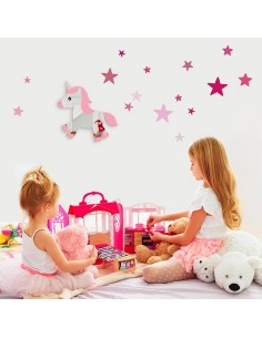 Miroir enfant,Miroir Enfant: Licorne