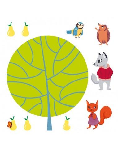 Stickers Forêt,Sticker forêt: Frise Poirier