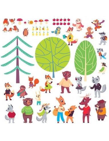 Stickers Forêt,Sticker Forêt: Grande Frise Forêt