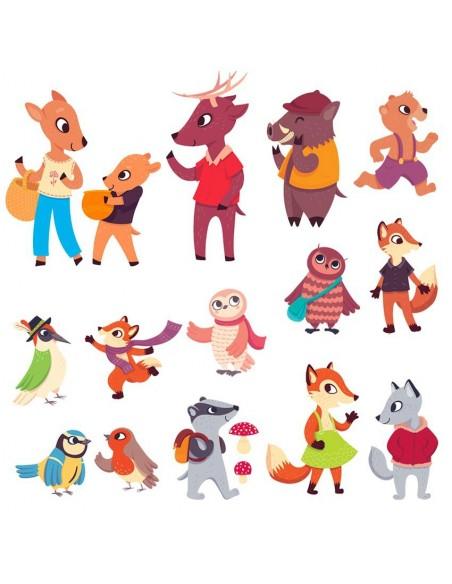 Stickers Forêt,Sticker forêt: Frise Personnages Forêt