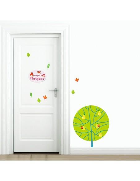 Plaques de porte,Plaque personnalisée: Rouge-Gorges