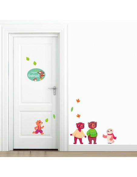 Plaques de porte,Plaque personnalisée: Renard