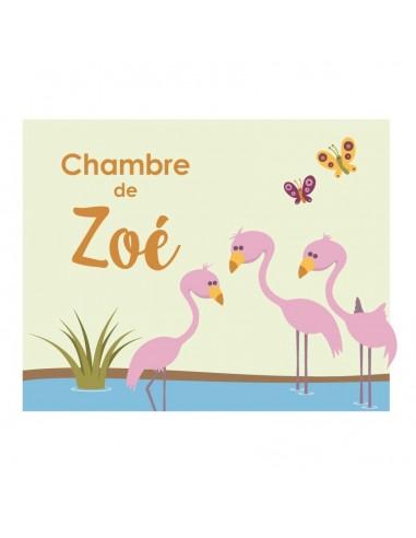 Plaques de porte,Plaque personnalisée: Flamants Roses